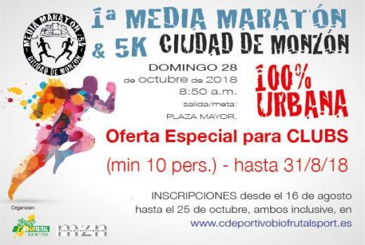 Media Maratón Monzón OFERTA CLUBS