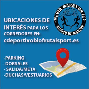 Ubicaciones Media Maratón Ciudad de Monzón
